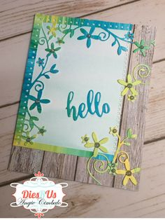 Dies R Us: Hello with Poppystamps Blooming Dotted Border