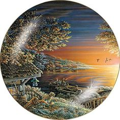Sunset Retreat Collector Plate by Terry Redlin