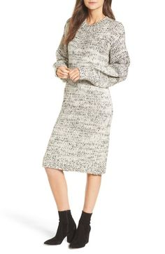 f0e655807d8adc MOON RIVER Chunky Knit Sweater Dress