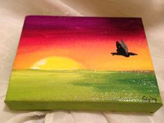 Original Small Art Home Decor Acrylic Painting by StefanieSchmid, $25.00