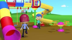 Baby Cartoons - Playground Song - Songs for Children with Lyrics