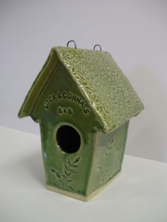 clay birdhouse