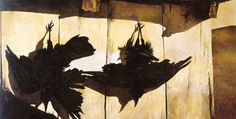 """Crow Study by Andrew Wyeth Andrew Wyeth, Crows (Study for Woodshed) Andrew Wyeth created detailed drawings to study from and use in his final works. Crows was a study form his painting """"Woodshed"""", painted in The crow as prey. Andrew Wyeth Paintings, Andrew Wyeth Art, Jamie Wyeth, Artemisia Gentileschi, Seattle Art Museum, Philadelphia Museum Of Art, Amazing Paintings, Art Blog, Fine Art"""