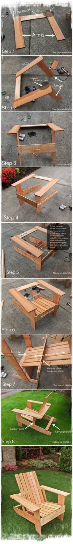 DIY Adirondack Chair Tutorial