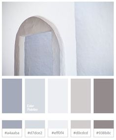 Colour palette for Interior that is White and Trending - The Architects Diary Room Colors, Wall Colors, House Colors, Colours, Colour Pallette, Colour Schemes, Paint Schemes, Grey Color Palettes, Color Palette Gray