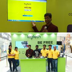 Hosting Logitech Product Activation #befreewithtech #Event #emceeing #mall #wireless #phoenix #market #city #chennai