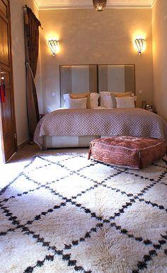 Ourain rug.