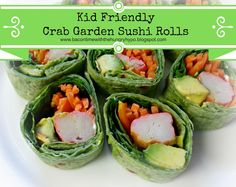 Bacon Time With The Hungry Hungry Hypo: Kid Friendly Crab Garden Sushi Rolls