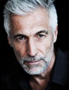 Andreas Von Tempelhoff British model and spokesperson:) Older Men Haircuts, Tall Dark Handsome, Going Blonde, Men With Grey Hair, Long Faces, Mature Men, Raining Men, Men's Grooming, Silver Hair