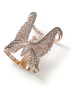 rose with butterfly wings photo | Bracelet in rose gold with diamonds (Foto: Divulgação)