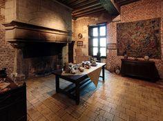 De keuken van La Clos Lucé, Amboise, Frankrijk
