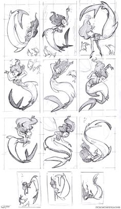 Mermaid poses