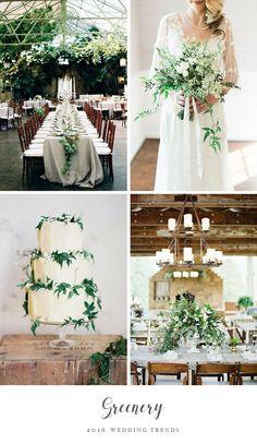 Top Wedding Trend - Greenery