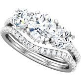 Bridal Diamond Engagement Ring and Wedding Band Sets