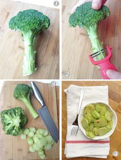 Don't even think about throwing away those broccoli stalks!