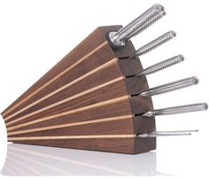 Such a different idea for a knife block