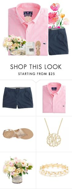 """Get to know me tag!"" by livnewell ❤ liked on Polyvore featuring J.Crew, Jack Rogers, R.J. Graziano, Kendra Scott and country"