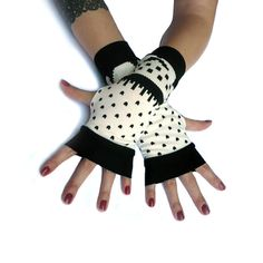 SALE Winter Gloves Arm Warmers Fingerless Gloves  by WearMeUp, $15.00