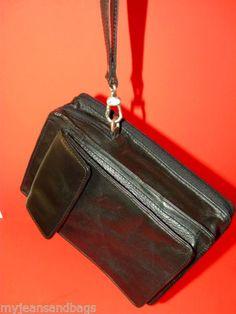 Wilsons Leather Organizer Wristlet Bag Wallet | eBay