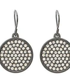 LAUREN Ralph Lauren Medium Pave Disk Drop Earrings #accessories  #jewelry  #earrings  https://www.heeyy.com/suggests/lauren-ralph-lauren-medium-pave-disk-drop-earrings-hematite-crystal/