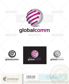 Communication Logo - 2414 — Photoshop PSD #programming #software • Available here → https://graphicriver.net/item/communication-logo-2414/762256?ref=pxcr