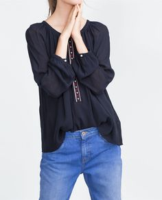 ZARA - COLLECTION AW15 - EMBROIDERED SHIRT