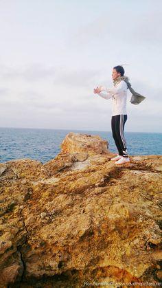 Nadja Kotrchova, early morning ritsuzen during the TheFeel Natural Tuning retreats at Ibiza 2015