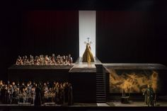 Tosca from Opera National de Paris. Production by Pierre Audi. Sets by Christof Hetzer.