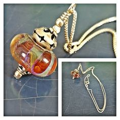 Sterling Silver Pendent NWOT. Purchased from a glass blowing Boutique in my area. Add a little bohemian to your outfit! Jewelry Necklaces