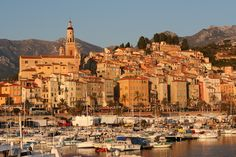 Menton, France Gateway to Italian Riviera Places In Europe, Planet Earth, Places Ive Been, Paris Skyline, The Good Place, Beautiful Places, To Go, Around The Worlds, France