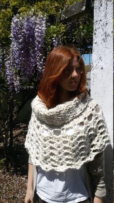 Crochet Cowl, Crochet Hooded Cowl, Crochet Shoulders Warmer, Hooded Cowl by AirasLovelyKnits on Etsy
