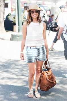 Name: Amanda Kanabe From: San Francisco What She's Wearing: Zara shirt, Elle shorts, hat from Hawaii