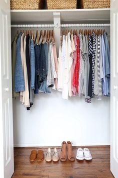 My Spring 2018 Capsule Wardrobe - closet full