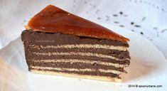 Tort Dobos reteta originala | Savori Urbane Cacao Beans, Food Cakes, Lidl, Tiramisu, Cake Recipes, Food And Drink, Urban, Ethnic Recipes, Desserts