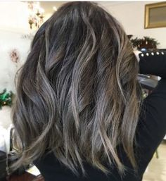 Long Wavy Ash-Brown Balayage - 20 Light Brown Hair Color Ideas for Your New Look - The Trending Hairstyle Ash Brown Hair Balayage, Dark Ash Brown Hair, Hair Color Balayage, Brown Hair Colors, Hair Highlights, Blonde Balayage, Medium Ash Brown Hair, Silver Highlights, Color Highlights