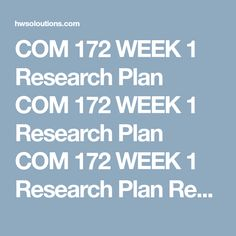 Com  Week  Apa Template Com  Week  Apa Template Com