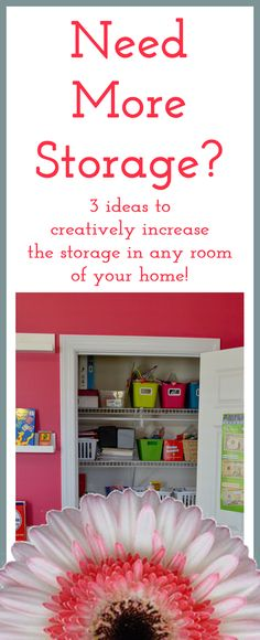 Create more storage in any room! I use an old dresser for my tv stand. Then I have my crochet yarn and other craft stuff in the drawers. In another room I did the same but store DVD movies, VHS movies and other electronic stuff. Great for storing and keeping stuff together