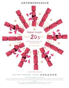 Anthropologie Animated Holiday Promo Email Design