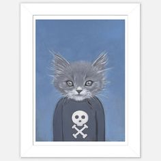 Framed Cat Print Henry now featured on Fab.