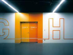 Wayfinding | Nissan Motor Co., Ltd. Design Center - Hiromura Design Office  http://www.hiromuradesign.com/#/works40/