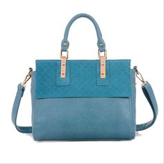 Large capacity bag, blue handbag with large handles, bags that are designer and classic