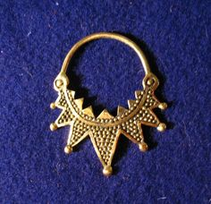 Replica: Slavonic temple ring, 10-11century., upper Dnieper region, to the north of Kiev, Radimichi tribe. They were slipped onto a headband and worn near a woman's temples.