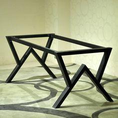 Personalizado americano contratado e contemporânea, Ferro forjado mesa de computador mesa mesa de madeira sólida