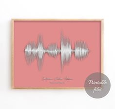 Sound Wave Art, Personalised Soundwave Print, Custom sound wave, Printable Files Printable Art, Printables, Nature Sounds, Wave Art, Sound Waves, New Baby Gifts, Color Themes, That Way