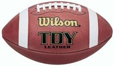 Wilson Pee Wee Composite Leather Game Football New Flag Football, Youth Football, Football Field, Running Back, Lace Making, Big Game, Leather Cover, American Football