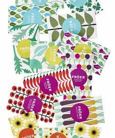 Stockholmer Illustratorin Maja Sten fertigte schicke Illustrationen für IKEAs Pflanzensamen an. #Illustration #Packaging