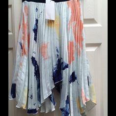 Selling this ZARA Multi-Color Knife Pleat Asymmetrical Skirt M on Poshmark! My username is: designsbyjenna. #shopmycloset #poshmark #fashion #shopping #style #forsale #Zara #Dresses & Skirts
