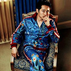 Steven Yeun photographed by Ssam Kim for The Glass Magazine, 2017