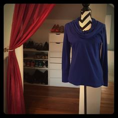 Royal blue, cowl-neck sweater Royal blue, cowl-neck sweater a.n.a Sweaters Cowl & Turtlenecks