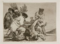 Los desastres de la guerra, n.º 33: «¿Qué hay que hacer más?». Goya refleja en su obra gráfica la brutalidad y barbarie a que se llegó en la Guerra de la Independencia Española.
